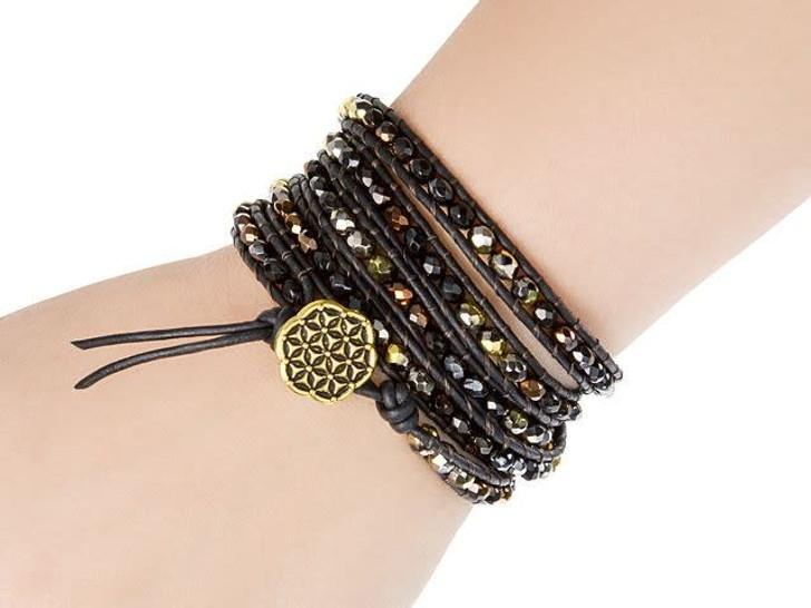 Dark Glitter Wrap Bracelet Kit by Cynthia Kimura