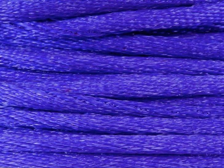Dazzle It 1.5mm Dark Purple Satin Cord on Reusable Bobbin - 20 yards