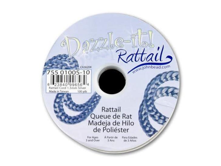 Dazzle It 1.5mm Silver Satin Cord (100 -Yard Spool)