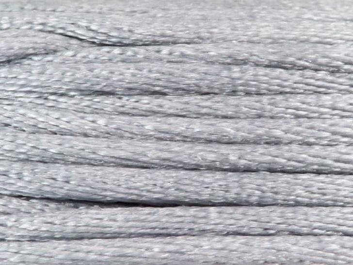Dazzle It 1.5mm Silver Satin Cord on Reusable Bobbin - 20 yards