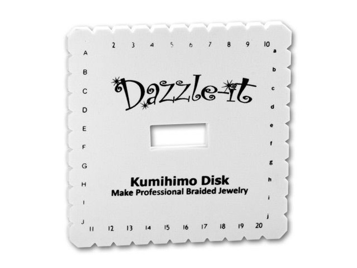 Dazzle It Kumihimo Square Braiding Foam Disk