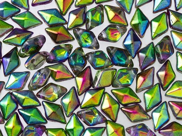 DiamonDuo 5x8mm Magic Orchid Czech Glass 2-Hole Bead (10 gram pack)