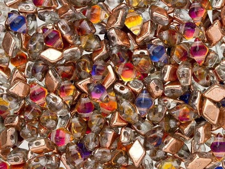 DiamonDuo Mini 4 x 6mm Prismatic Phoenix Czech Glass 2-Hole Bead (25 gram pack)