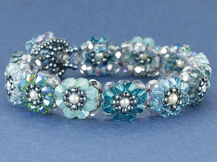 Dutch Blue Blooming Crystals Bracelet Kit