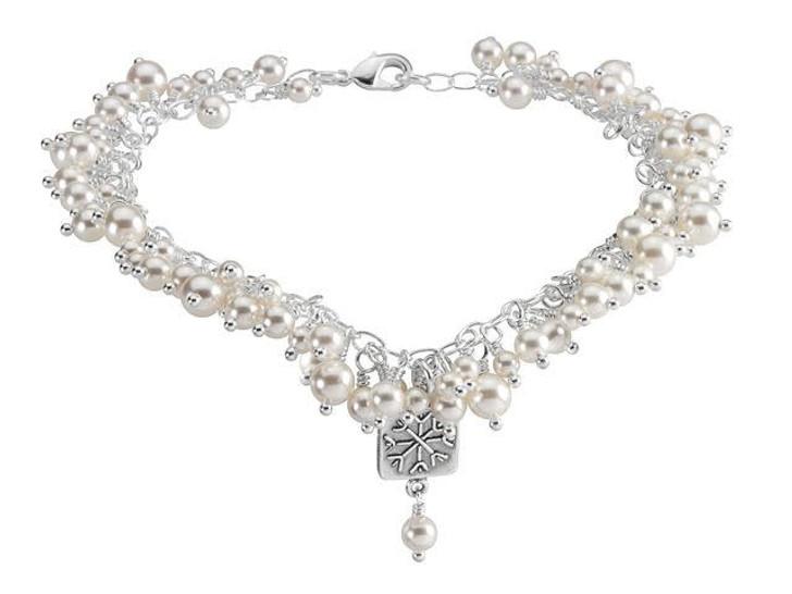 Falling Snow Bracelet Kit featuring Swarovski Crystals