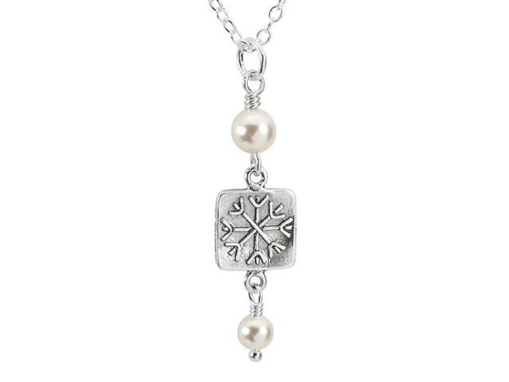 Falling Snow Necklace Kit featuring Swarovski Crystals