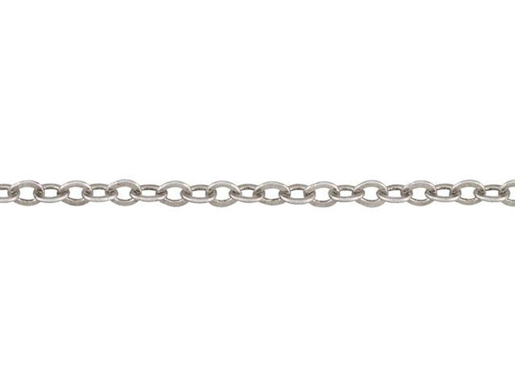 1.7mm Antique Silver-Plated Brass Delicate Cable Chain By the Foot
