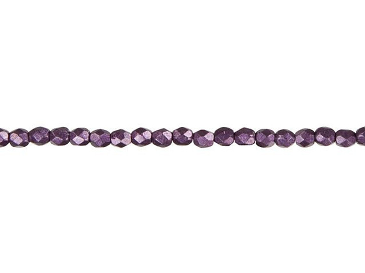 Fire-Polished Bead 3mm ColorTrends Saturated Metallic Tawny Port (100pc Strand) by Starman