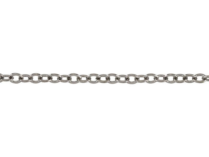 1.7mm Gunmetal-Plated Brass Delicate Cable Chain By the Foot