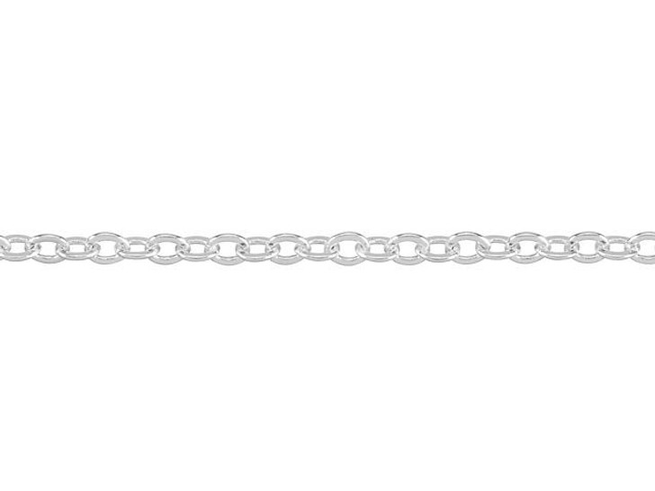 1.7mm Silver-Plated Brass Delicate Cable Chain By the Foot