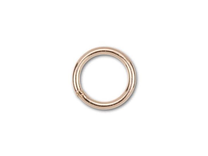 1/20 14K Rose Gold-Filled 5mm Closed Jump Ring 22 Gauge