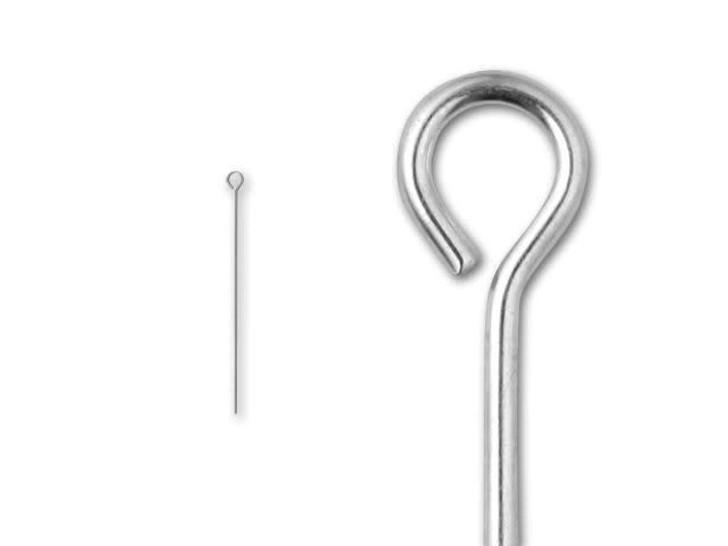 1/2-inch Eye Pin, 24 Gauge (Sterling Silver)