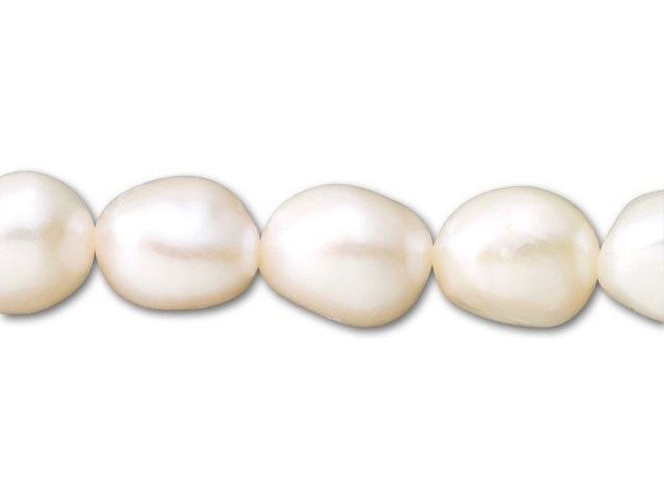 10.5-11.5mm White Rice Nugget Freshwater Pearl Strand