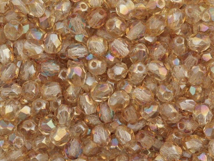 Fire-Polished Bead 4mm Crystal Celsian (100pc Pack) by Starman