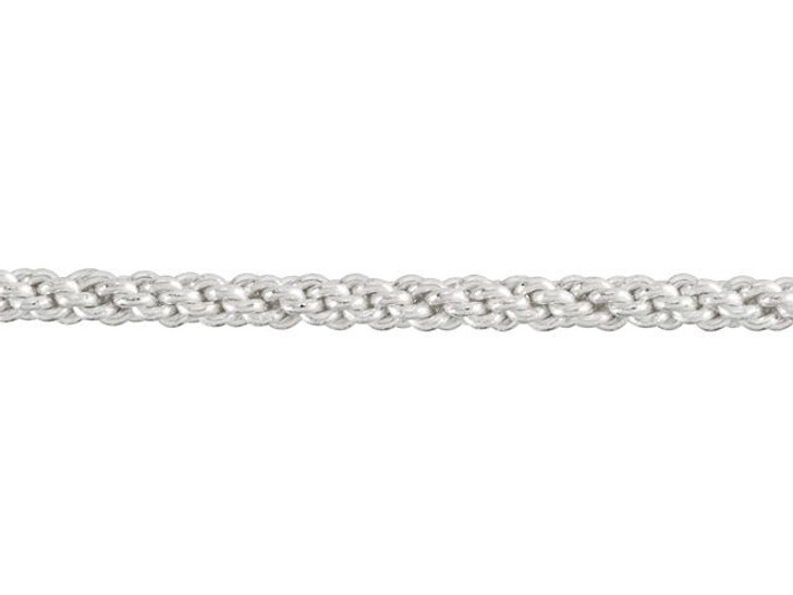 10-Gauge Silver-Plated Non-Tarnish Round Artistic Wire Braid 2.5 Feet