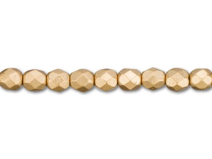 Fire-Polished Bead 4mm Matte Metallic Flax (100pc Pack) by Starman