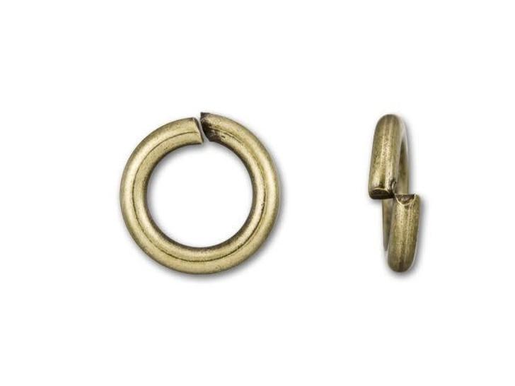 10mm Antique Brass-Plated 13 Gauge Open Jump Ring