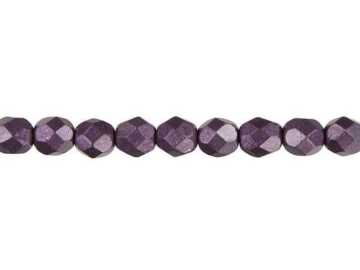 Czech Fire-Polish Bead 6mm ColorTrends Saturated Metallic Tawny Port (25pc Strand) by Starman