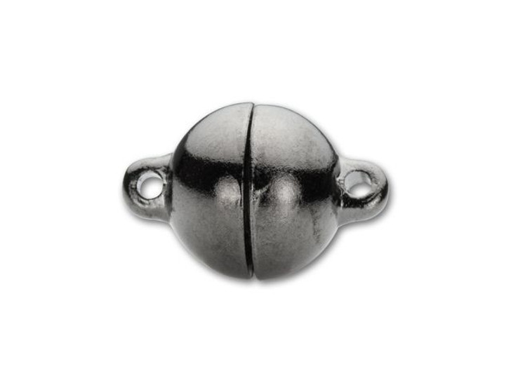 10mm Gunmetal-Plated Round Magnetic Clasp
