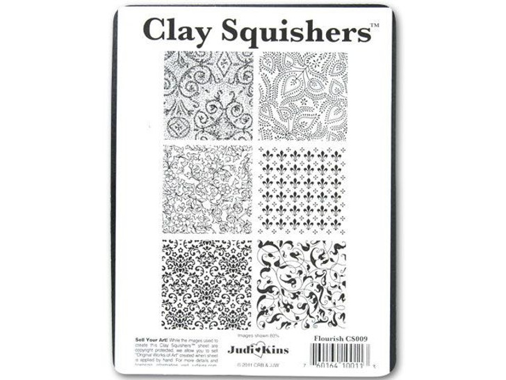 Flourish Clay Squisher Texture Plate