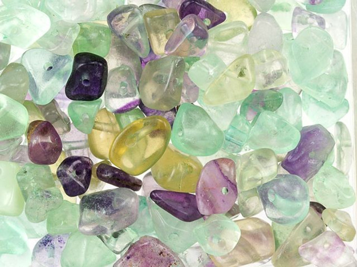 Fluorite Loose Gemstone Chip Beads 100g Bag