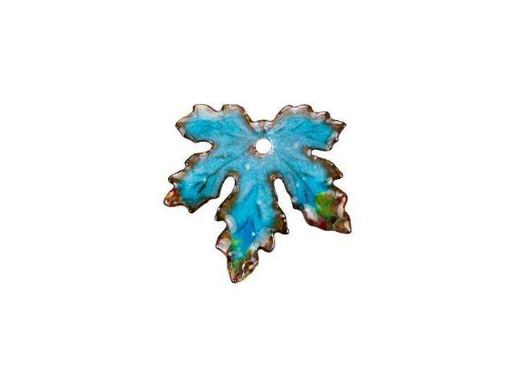 Gardanne Beads Atlantic Blend Small Enameled Maple Leaf Charm