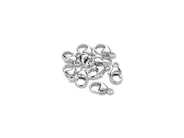 11.4mm Oval Trigger Clasp - 925 Silver Bulk Pack (10 Pcs)