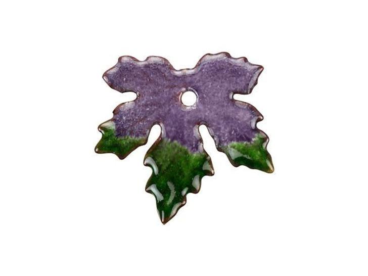 Gardanne Beads Gig Harbor Blend Small Enameled Maple Leaf Charm