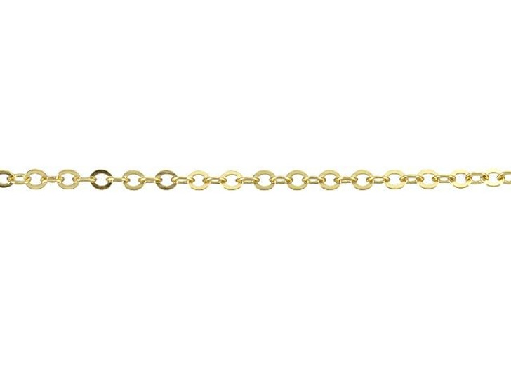 1125 Gold-Filled 14K/20 Hammered Cable Chain by the Foot