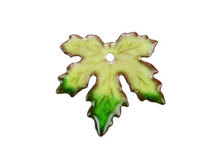 Gardanne Beads Spring Blend Small Enameled Maple Leaf Charm