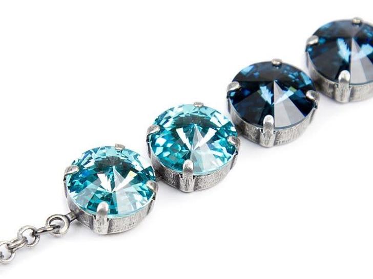Gita 12mm Antique Silver Rivoli Cup Chain By the Foot