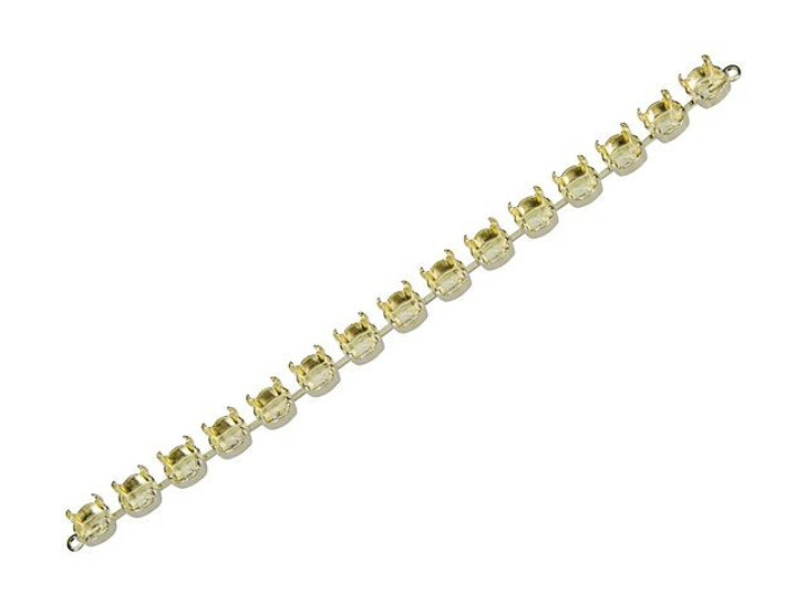 Gita 39ss Bright Gold Cup Chain Bracelet Base with 15 Settings