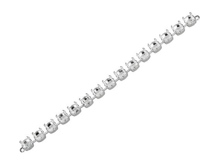 Gita 39ss Silver Cup Chain Bracelet Base with 15 Settings