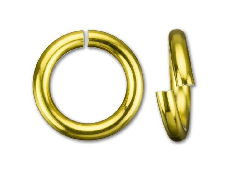 Gold Anodized Aluminum 10mm 16 Gauge Open Jump Ring