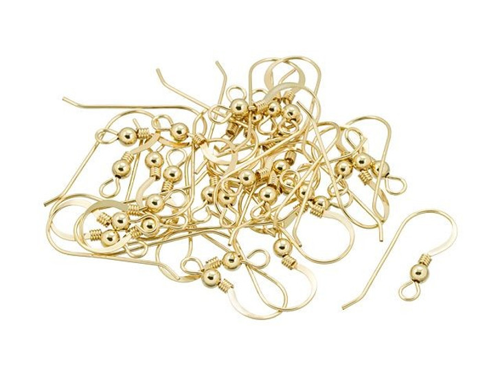 Artbeads Gold-Filled 027 Earwires (Flat, Ball, Coil Pairs), Pro Pack (15 Pairs)