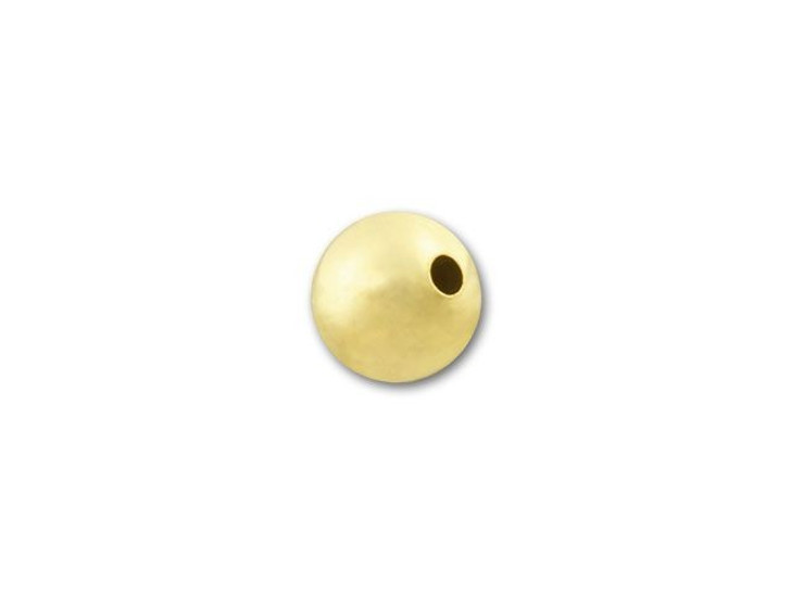 Gold-Filled 4mm Round Seamless with 1.0mm Hole (1/20 14K)