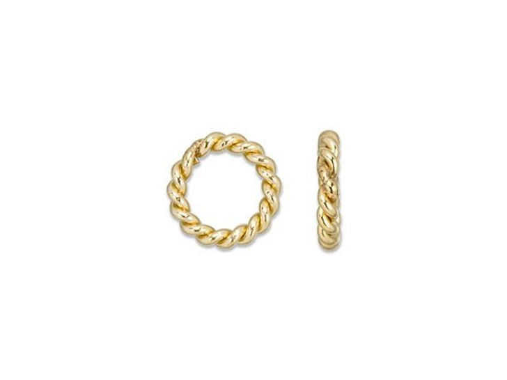 Gold-Filled 4mm Twisted 20 Gauge Closed Jump Ring