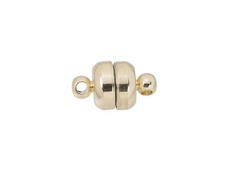 12 x 7mm Gold-Plated Oval Magnetic Clasp