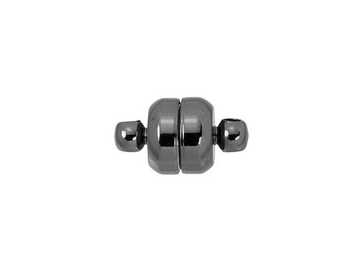 12 x 7mm Gunmetal-Plated Oval Magnetic Clasp