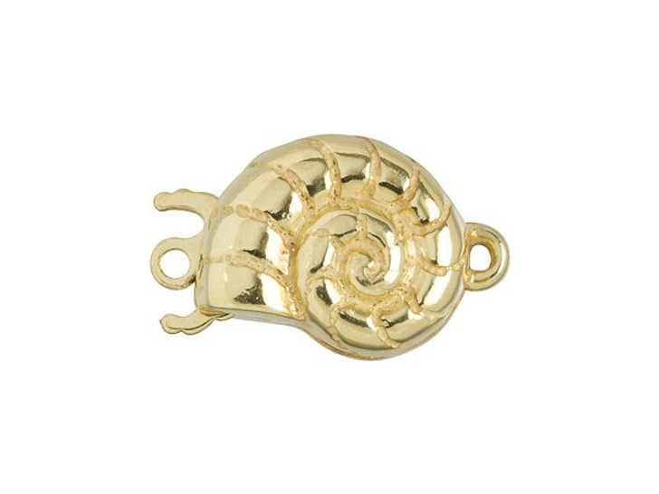 Gold-Filled Nautilus Shell Clasp