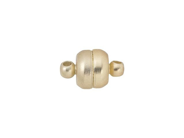 12 x 7mm Satin Hamilton Gold-Plated Oval Magnetic Clasp