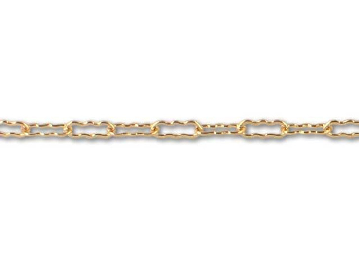 Gold-Filled Scalloped Link Chain by the Foot