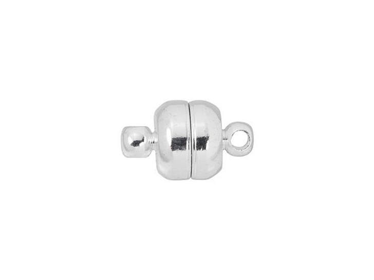 12 x 7mm Silver-Plated Oval Magnetic Clasp