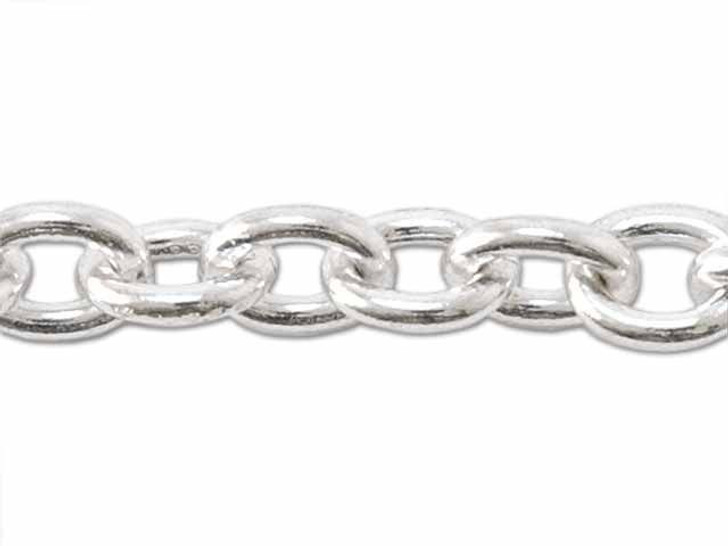 120 Sterling Silver Cable Chain by the Foot