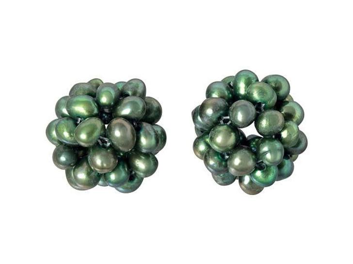 12-14mm Olive Green Freshwater Pearl Blackberry Bead