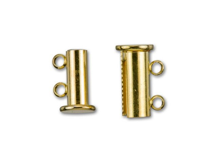 Gold-Plated 14x10mm 2-Ring Magnetic Tube Clasp