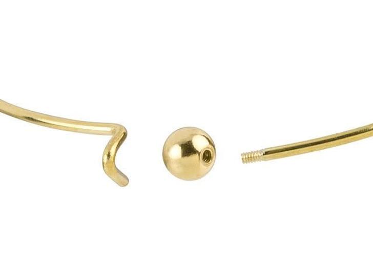 Gold-Plated Add-a-Bead Bracelet Bangle