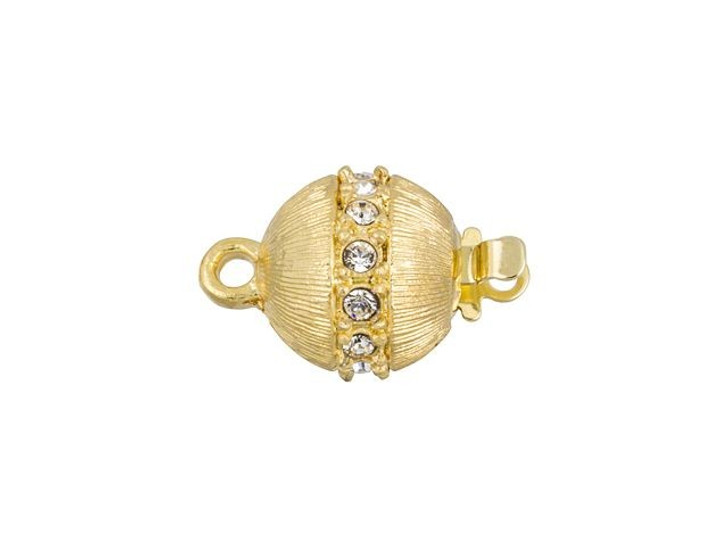 Gold-Plated Ball Clasp with Swarovski Crystals