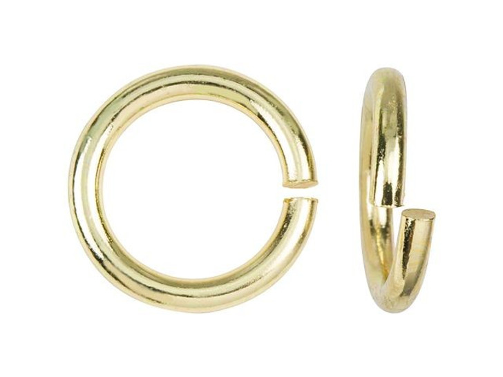 Gold-Plated Brass 10mm 14 Gauge Round Open Jump Ring