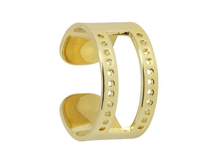 Gold-Plated Brass 20 x 10mm Centerline Ring for Delica/Treasure Beads